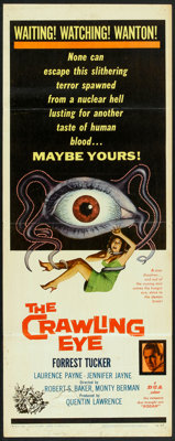 "The Crawling Eye (DCA, 1958). Insert (14"" X 36""). Science Fiction"