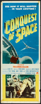 "Conquest of Space (Paramount, 1955). Insert (14"" X 36""). Science Fiction"