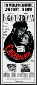 "Movie Posters:Drama, Casablanca (United Artists, R-1972). Australian Daybill (13"" X 30""). Drama.. ..."