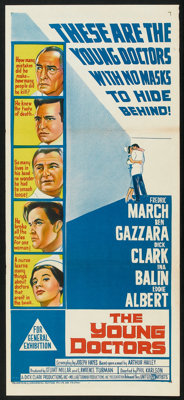 """The Young Doctors (United Artists, 1961). Australian Daybill (13"""" X 30""""). Drama"""