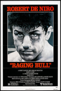 "Raging Bull Lot (United Artists, 1980). One Sheet (27"" X 41"") and Lobby Cards (2). Drama. ... (Total: 3 Items)"