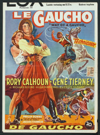"Way of a Gaucho (20th Century Fox, 1952). Belgian (14"" X 19.25""). Adventure"