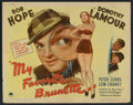 "Movie Posters:Comedy, My Favorite Brunette (Paramount, 1947). Half Sheet (22"" X 28"") Style B. Comedy.. ..."