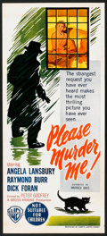 "Movie Posters:Crime, Please Murder Me (Warner Brothers, 1956). Australian Daybill (13"" X 30""). Crime.. ..."