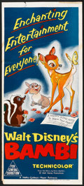 "Movie Posters:Animated, Bambi (MGM, R-1957). Australian Daybill (13"" X 30""). Animated.. ..."