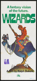 "Movie Posters:Animated, Wizards (20th Century Fox, 1977). Australian Daybill (13"" X 30"").Animated.. ..."