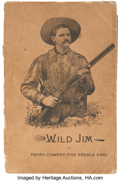 Capt W J French Wild Jim The Texas Cowboy And Saddle King Lot
