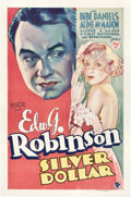 "Movie Posters:Drama, Silver Dollar (First National, 1932). One Sheet (27"" X 41"").. ..."