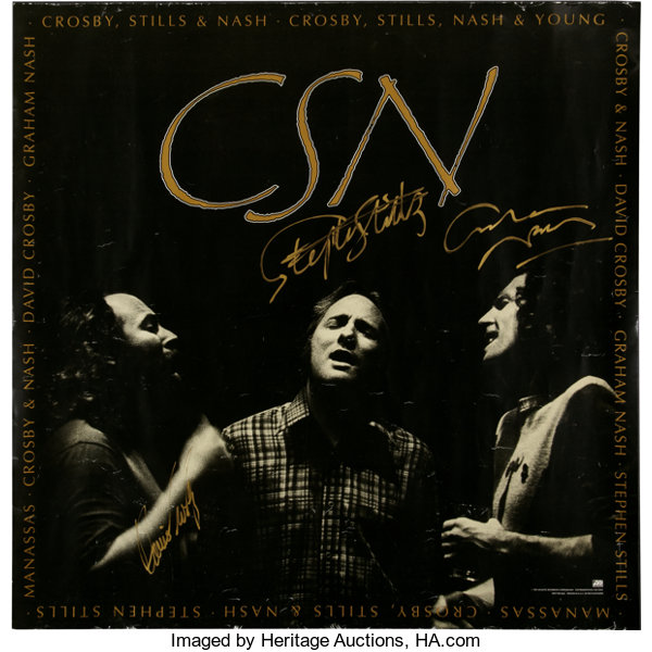 CSN Box Set Promo Poster, Signed by Crosby, Stills, and Nash