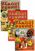 Golden Age (1938-1955):Miscellaneous, Famous Funnies Group (Eastern Color, 1946-53) Condition: Average VF.... (Total: 10 Comic Books)
