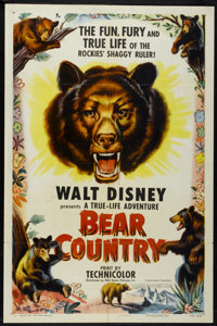 "Bear Country (RKO, 1953). One Sheet (27"" X 41""). Documentary"
