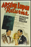 "Movie Posters:Mystery, Arsene Lupin Returns (MGM, 1938). One Sheet (27"" X 41"") Style C. Mystery.. ..."