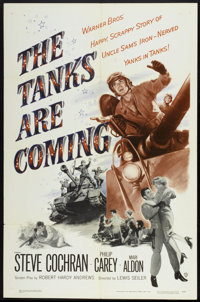 "The Tanks are Coming (Warner Brothers, 1951). One Sheet (27"" X 41""). War"
