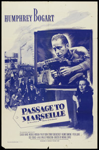 "Passage to Marseille (Dominant Pictures, R-1956). One Sheet (27"" X 41""). War"