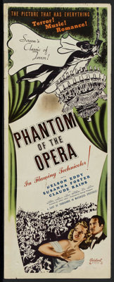 "Phantom of the Opera (Realart, R-1948). Insert (14"" X 36""). Horror"