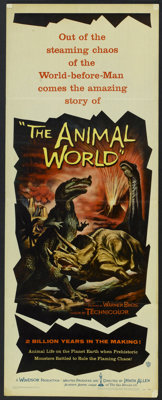 "The Animal World (Warner Brothers, 1956). Insert (14"" X 36""). Documentary"
