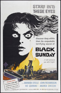"Black Sunday (American International, 1961). One Sheet (27"" X 41""). Horror"