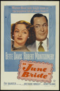 """Movie Posters:Comedy, June Bride (Warner Brothers, 1948). One Sheet (27"""" X 41""""). Comedy.. ..."""