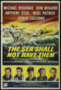 """Movie Posters:War, The Sea Shall Not Have Them (Rank, 1954). British One Sheet (27"""" X40""""). War.. ..."""
