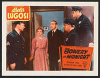 "Bowery at Midnight (Astor, R-1949). Lobby Card (11"" X 14""). Horror"