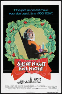 "Silent Night, Evil Night (Warner Brothers, 1974). One Sheet (27"" X 41""). Horror"