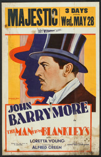 "The Man from Blankley's (Warner Brothers, 1930). Window Card (14"" X 22""). Comedy"