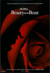 """Beauty and the Beast (Buena Vista, R-2002). One Sheet (27"""" X 40"""") DS Advance. Animated"""