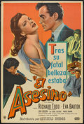 "Movie Posters:Mystery, The Assassin (United Artists, 1953). Argentinean Poster (29"" X 43""). Mystery.. ..."
