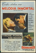 """Movie Posters:Drama, The Eddy Duchin Story (Columbia, 1956). Argentinean Poster (29"""" X 43""""). Drama.. ..."""