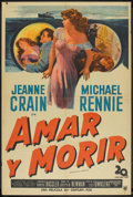 "Movie Posters:Mystery, Dangerous Crossing (20th Century Fox, 1953). Argentinean Poster (29"" X 43""). Mystery.. ..."