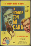 "Movie Posters:Thriller, The Man With My Face (United Artists, 1951). Argentinean Poster (29"" X 43""). Thriller.. ..."
