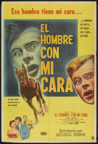 "The Man With My Face (United Artists, 1951). Argentinean Poster (29"" X 43""). Thriller"