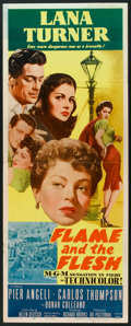"""Movie Posters:Drama, Flame and the Flesh (MGM, 1954). Insert (14"""" X 36""""). Drama.. ..."""