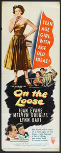 "Movie Posters:Drama, On the Loose (RKO, 1951). Insert (14"" X 36""). Drama.. ..."