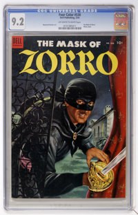 Four Color #538 The Mask of Zorro (Dell, 1954) CGC NM- 9.2 Off-white to white pages