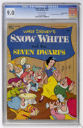 Golden Age (1938-1955):Adventure, Four Color #382 Snow White and the Seven Dwarfs - Canadian Edition (Dell, 1952) CGC VF/NM 9.0 Off-white pages....