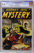 Golden Age (1938-1955):Horror, Journey Into Mystery #1 (Atlas, 1952) CGC FN- 5.5 Off-whitepages....