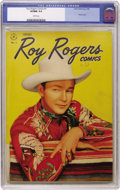 Golden Age (1938-1955):Western, Roy Rogers Comics #1 (Dell, 1948) CGC VF/NM 9.0 White pages....