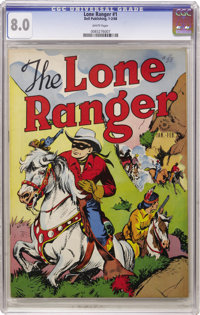 Lone Ranger #1 (Dell, 1948) CGC VF 8.0 White pages