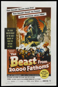 "Movie Posters:Science Fiction, The Beast From 20,000 Fathoms (Warner Brothers, 1953). One Sheet(27"" X 41""). Science Fiction. Starring Paul Christian, Paul..."