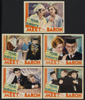 """Movie Posters:Comedy, Meet the Baron (MGM, 1933). Lobby Cards (5) (11"""" X 14""""). Comedy.Starring Jimmy Durante, Jack Pearl, Zasu Pitts, Edna May Ol...(Total: 5)"""