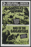 "Movie Posters:Science Fiction, Godzilla's Revenge/War of the Gargantuas Combo (Toho, 1969). OneSheet (27"" X 41""). Science Fiction. Starring Tomonori Yazak..."