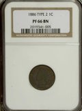 Proof Indian Cents, 1886 1C Type Two PR66 Brown NGC....