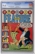 Golden Age (1938-1955):Miscellaneous, Feature Comics #57 (Quality, 1942) CGC VF/NM 9.0 Off-white to white pages....
