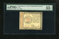 Colonial Notes:Continental Congress Issues, Continental Currency January 14, 1779 $3 PMG About Uncirculated 55EPQ....