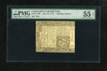 Colonial Notes:Connecticut, Connecticut June 19, 1776 1s/3d Uncancelled PMG About Uncirculated55 EPQ....