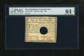 Colonial Notes:New Hampshire, New Hampshire April 29, 1780 $20 PMG Choice Uncirculated 64 EPQ....