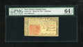 Colonial Notes:New Jersey, New Jersey March 25, 1776 6s PMG Choice Uncirculated 64 EPQ....