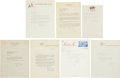 Autographs:Others, Baseball Signed Letters Lot of 11+. ...