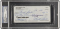 Autographs:Checks, Curt Flood Signed Check PSA/DNA Certified Authentic. ...